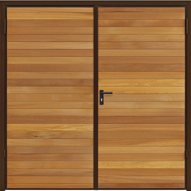 Horizontal - Garador Timber Side Hinged Garage Doors