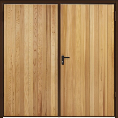 Vertical - Garador Timber Side Hinged Garage Doors