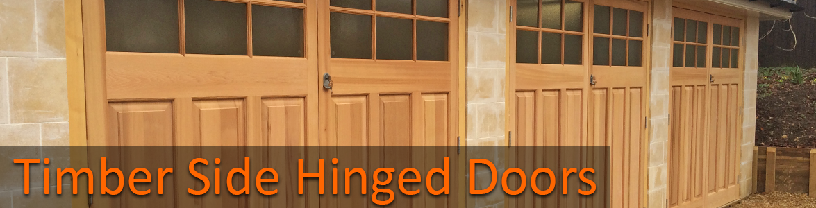 Timber Side Hinged Garage Doors