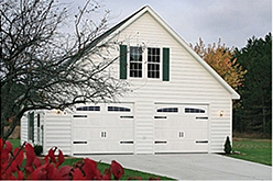 classic side hinged style sectional garage door with bracket arms