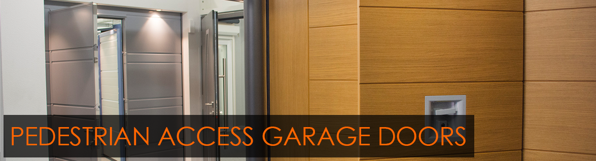 Garage Doors with Pedestrian Access