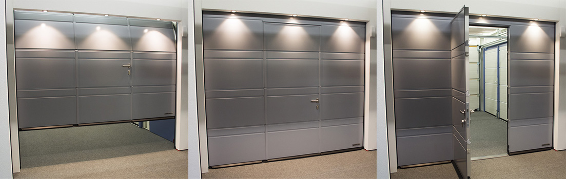 White Wicket Door Pedestrian Access & Garage Doors with Pedestrian Doors - Wicket Door - Hormann Cedar ...