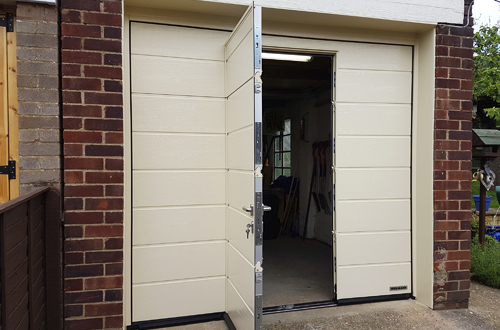Hormann wicket garage door & Garage Doors with Pedestrian Doors - Wicket Door - Hormann Cedar ...