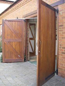 Period style Side Hinged Timber Garage Doors