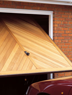 Iroko wooden up and over door