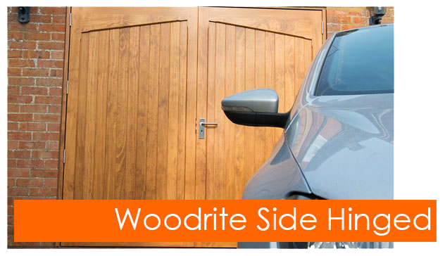 Woodrite side hinged garage doors