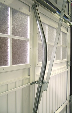bow arm converter on a canopy door with windows