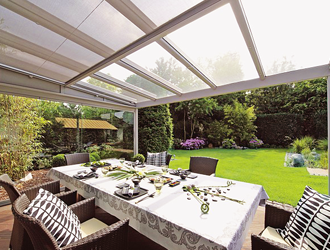 Terrazza terrace cover glass roof system