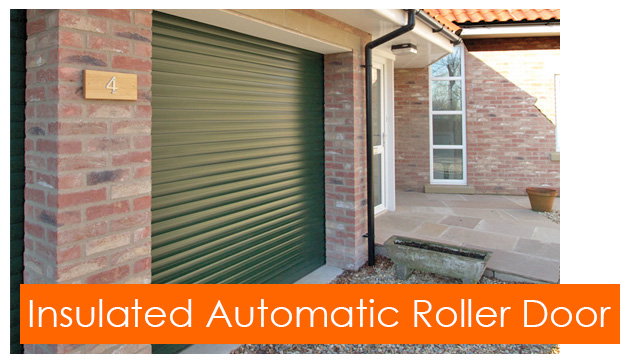 Gliderol insulated automatic roller garage door