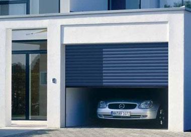 Beau ... Hormann Roller Garage Door In Steel Blue (RAL 5011) ...