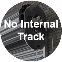 Roller Shutters have no internal tracking