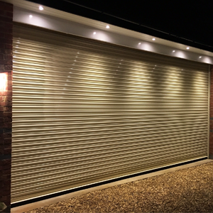 Steel roller garage door