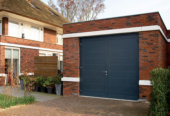 Hormann Insulated Side Hinged Garage Door in Anthracite