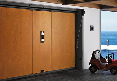 Inside Securlap door with pedestrian access