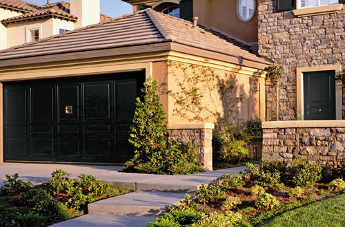 Matching garage and entrance door