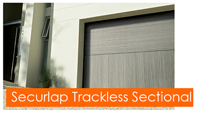 Silvelox Securlap trackless sectional garage doors