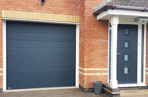 SWS Sectional Garage Door installed by The Garage Door Centre