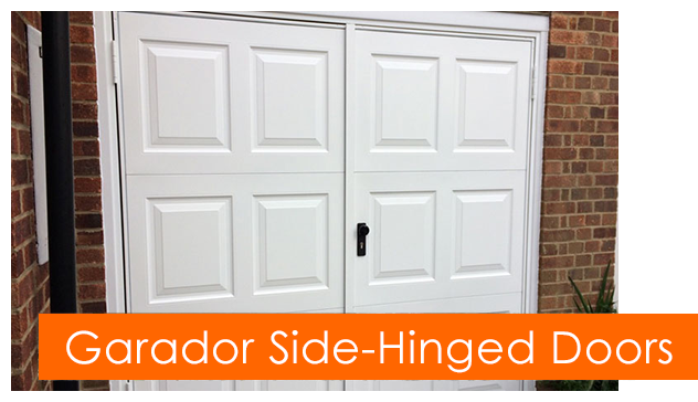 Garador side hinged garage doors