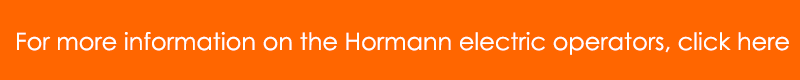 For more information of the Hormann electric operator range, click here