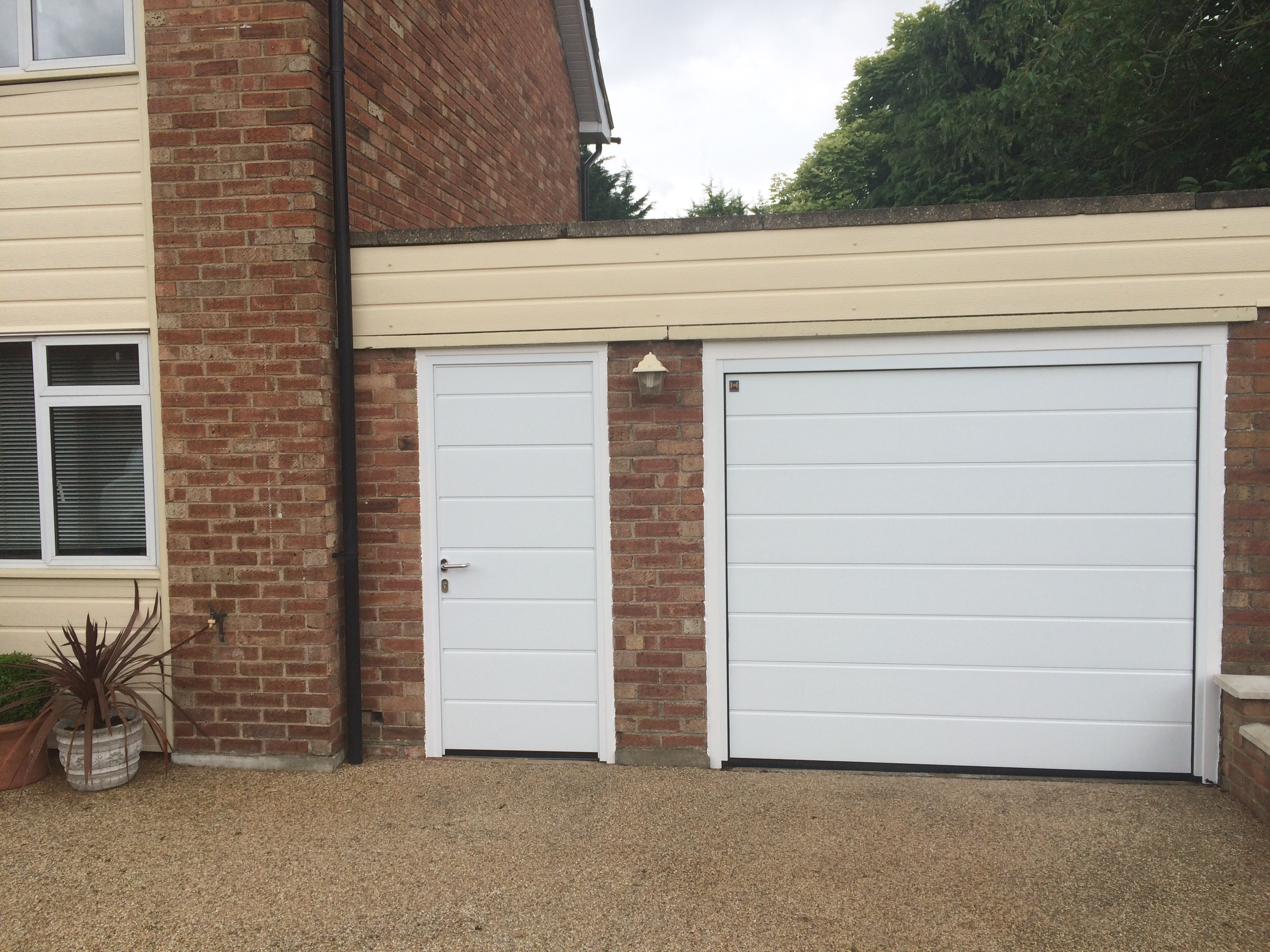 Front entrance doors horman aluminium and upvc insulated garage matching side door rubansaba