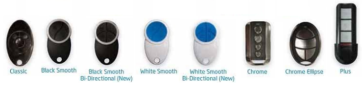 Remotes available for the Seceuroglide Excel