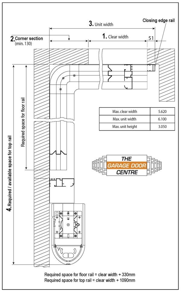 vertico round the corner garage doors - insulated garage door