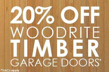 20% OFF Bespoke Timber Garage Doors