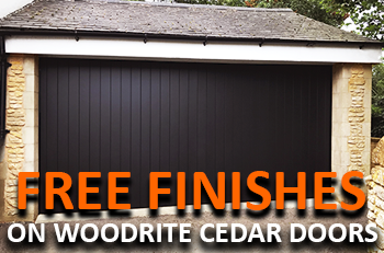Free Finishing on Woodrite Cedar Doors
