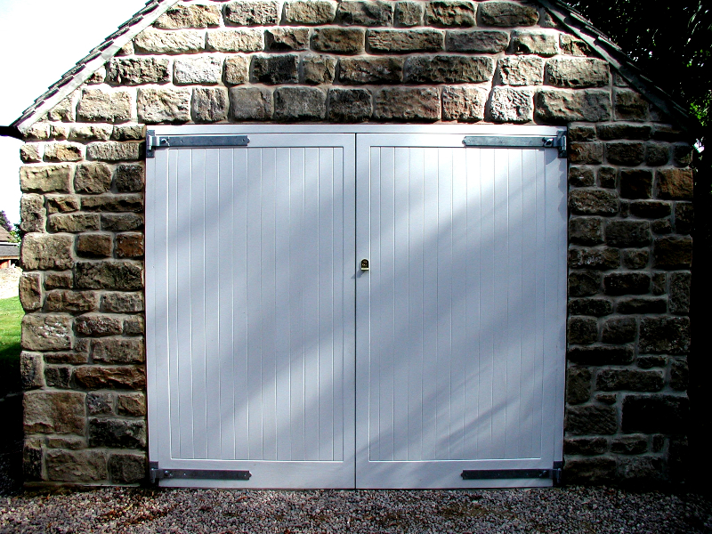 Cedar bakewell Timber side hinged doors in white
