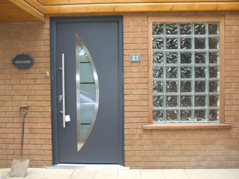 Hormann ThermoPro Style 900 Entrance Door in Anthracite.