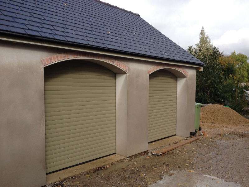 Twin SWS Secueorglide Aluminium Rollers in Light Grey or Ivory