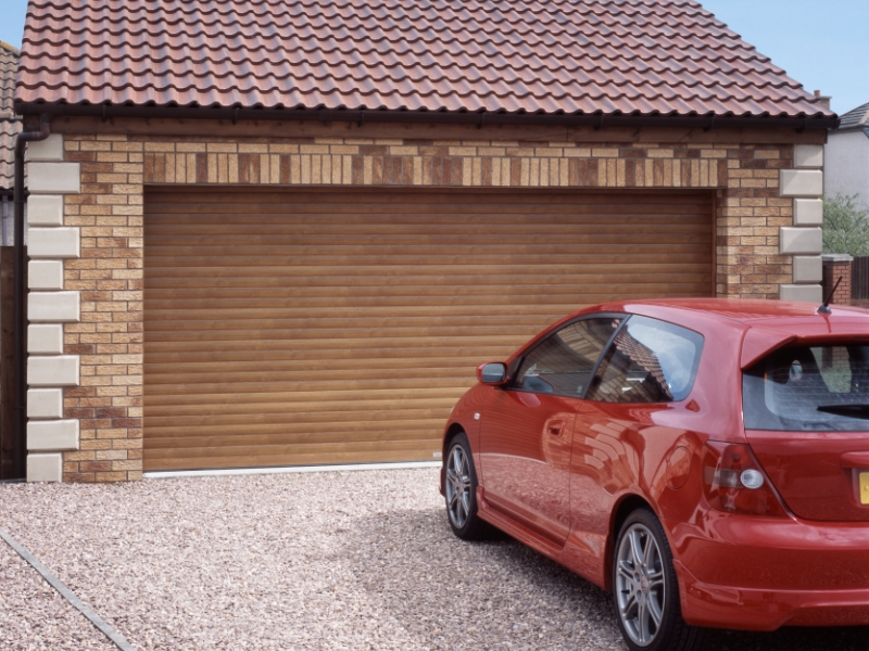 Double SWS Seceuroglide aluminium roller in Golden oak