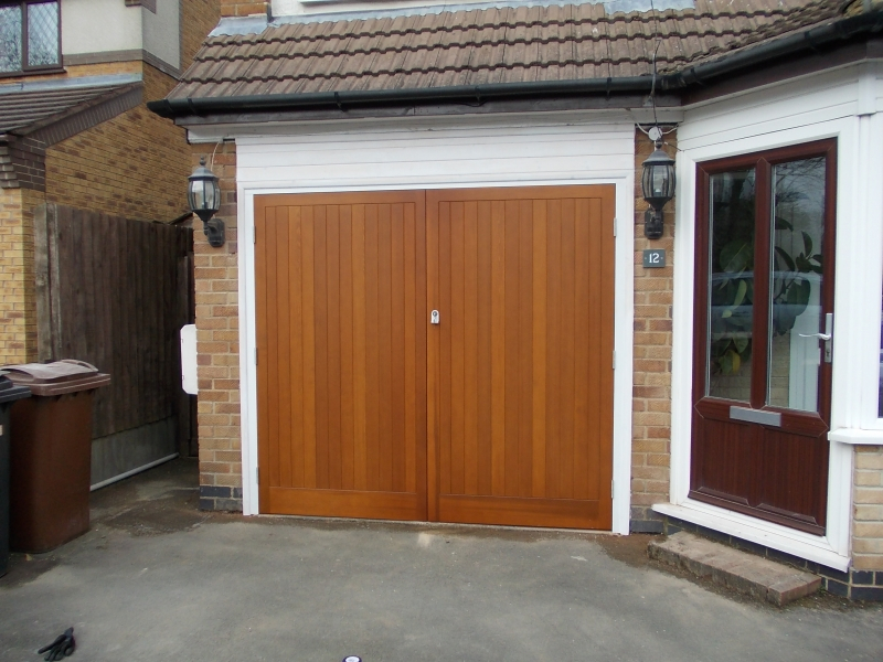 Timber side hinged door