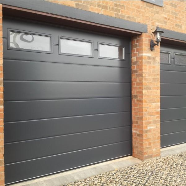 Carteck Centre Ribbed Carteck Sectional Doors Steel The