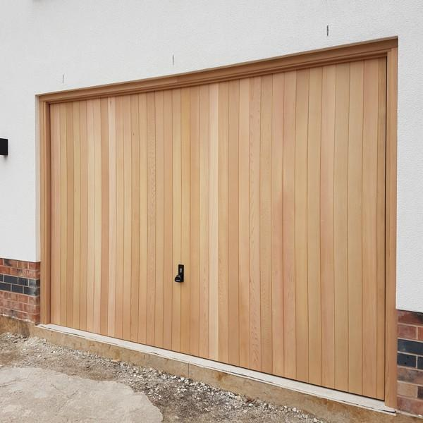 Garador vertical cedar garador up and over doors timber for Cedar wood garage doors price