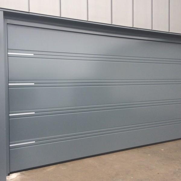 Hormann LPU42 T Ribbed Silkgrain Hormann Sectional Doors