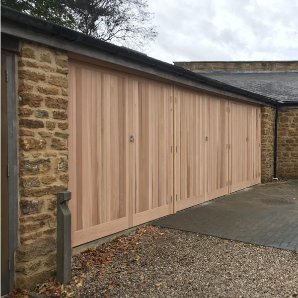 Cedar door bakewell cedar door side hinged timber for Cedar garage doors prices