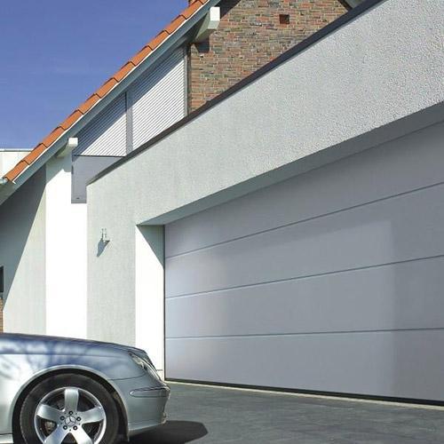 Hormann Sectional L Ribbed Garage Door In Anthracite Grey: Hormann LPU 42 L Ribbed Silkgrain Hormann Sectional Doors
