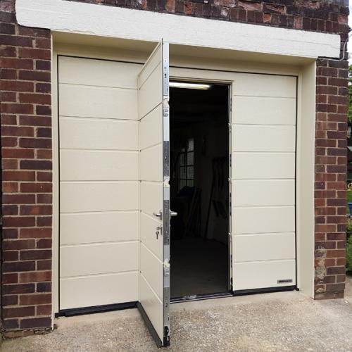 Hormann Lpu 42 With Wicket Door Inset Hormann Sectional Doors Steel