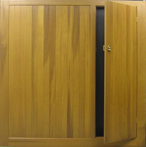 Cedar Door Bakewell With Wicket Door Cedar Door Up And