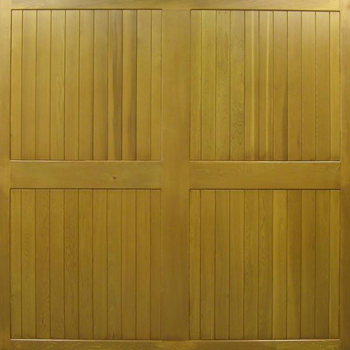 cedar door ashford timber up and over cross design garage door