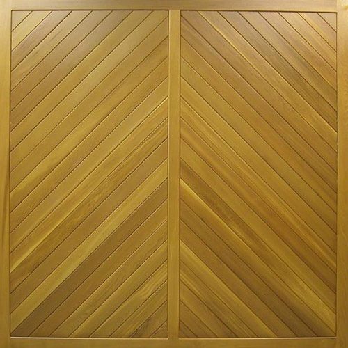 cedar door buxton chevron design timber up and over garage door