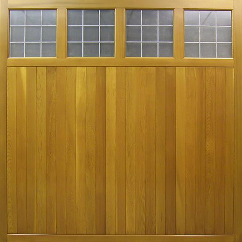 cedar door ashbourne vertical timber up and over garage door with window panel sections