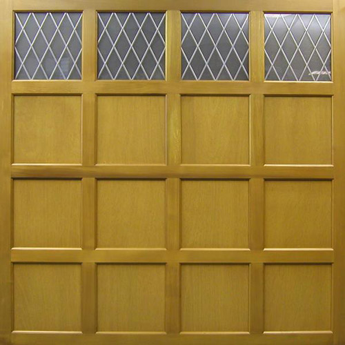cedar door hardwick panelled timber up and over garage door with windows