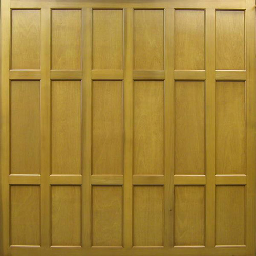 cedar door glossop timber classic panelled up and over garage door