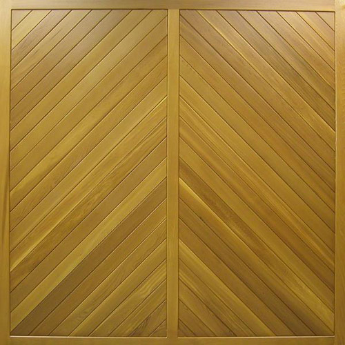 cedar door mansfield chevron design timber up and over garage door