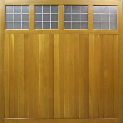 cedar door tuxford timber up and over garage door with vertical design and window inserts